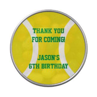 Custom kids tennis Birthday party favor candy tin