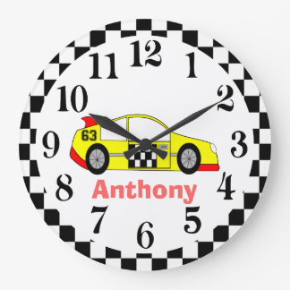 Cars childrens wall clocks for Kids room clock