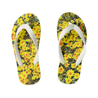 Custom Kid's Wildflower Flip Flops Thongs