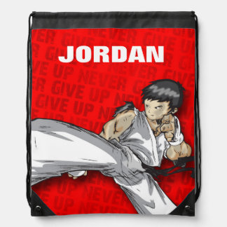 Custom Knapsack -Martial Arts Design Drawstring Bag
