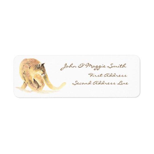 Custom Label Cougar, Puma, Mountain Lion, Animal