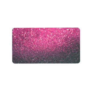 Custom Label - Pink Lit Nite Glit Fab