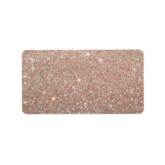Custom Label - Rose Gold Glit Fab Address Label