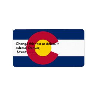 Custom Label with Flag of Colorado