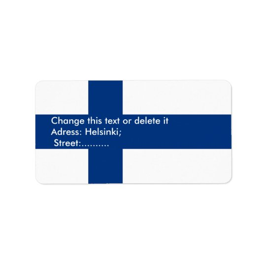 Custom Label with Flag of Finland