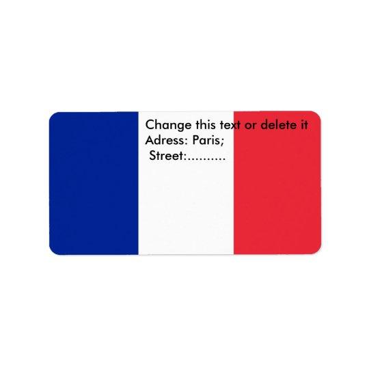 Custom Label with Flag of France Address Label