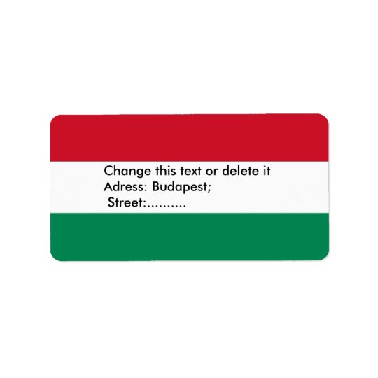 Custom Label with Flag of Hungary