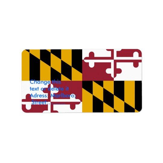 Custom Label with Flag of Maryland, U.S.A. Address Label