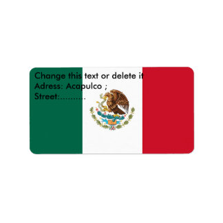 Custom Label with Flag of Mexico Address Label