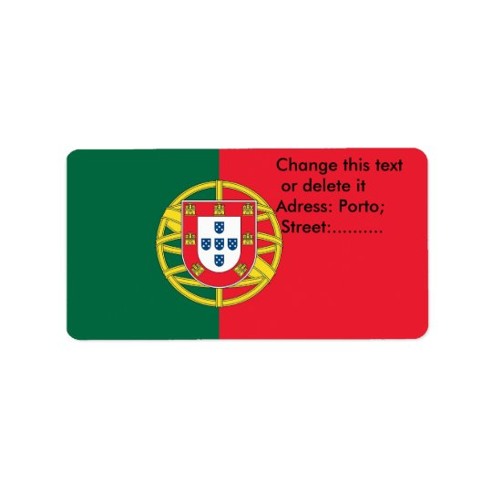 Custom Label with Flag of Portugal Address Label