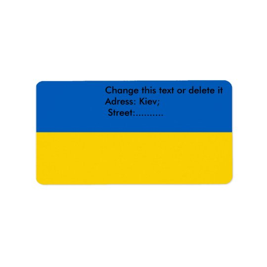 Custom Label with Flag of Ukraine