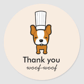 Custom Labels for Pet Dog Baked Treats Bakery Round Sticker
