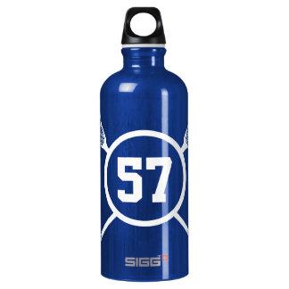 Custom Lacrosse Player Number SIGG Traveller 0.6L Water Bottle