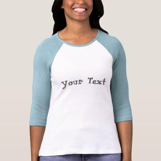 Custom ladies 3 4 sleeve raglan fitted t shirt zazzle for 3 4 sleeve shirt template