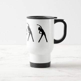 Custom Lady Stretching Excersize Mug Coffee Mugs
