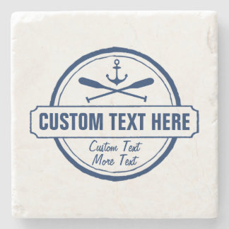 Custom Lake, Beach House & Boat Nautical Anchor Stone Coaster