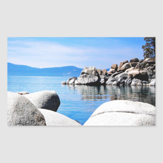 Custom Lake Tahoe Sand Harbor Photograph Rectangular Sticker