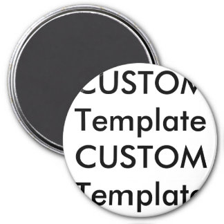 "Custom Large 3"" Round Magnet"