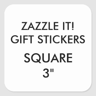 """Custom LARGE 3"""" SQUARE Gift Stickers Template"""