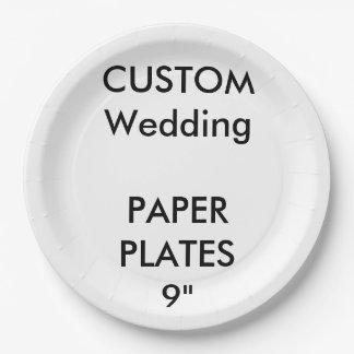 """Custom Large Disposable Wedding Paper Plates 9"""" 9 Inch Paper Plate"""