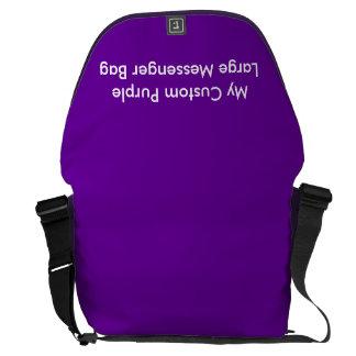 Custom Large Messenger Bag - Purple