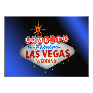 Custom Las Vegas Wedding Invitations