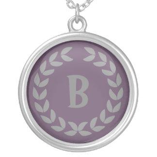 Custom Laurel Monogram necklace