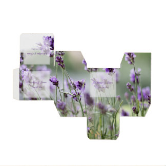 Custom Lavender Bohemian Wedding Favor Boxes Party Favour Boxes