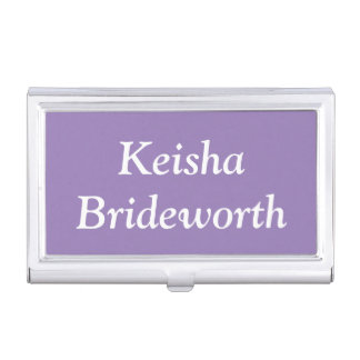 Custom Lavender Purple Contemporary Colorful Case For Business Cards
