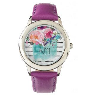 Custom Leather purple vintage ajm Watch