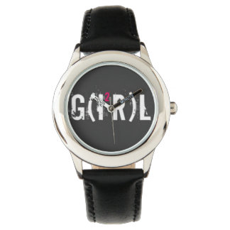Custom Leather vintage girl Watch