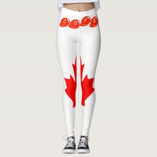Custom Leggings- LOVE CANADA Leggings
