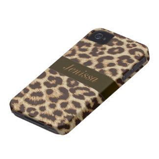 Custom Leopard Print iPhone 4/4S Case Mate Case