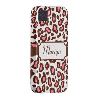 Custom Leopard Print  iPhone 4 Case-Mate Case-Mate iPhone 4 Cover