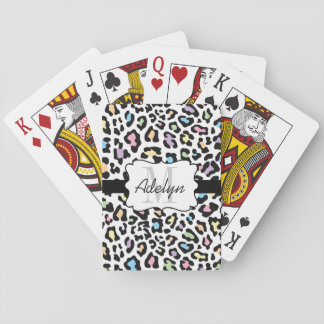 Custom Leopard Print Multi Colors Cards