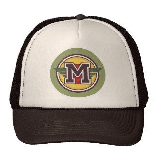 "Custom Letter ""M"" Deco Design Hat"