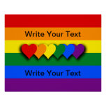 Custom LGBT flag Poster