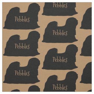 Custom Lhasa Apso Dog Fabric
