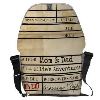 Custom Library Due Date Diaper Bag - Messenger Bag