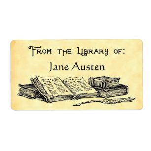"Custom ""Library Of"" Vintage Books Label"