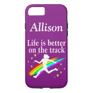 CUSTOM LIFE IS BETTER ON THE TRACK IPHONE CASE