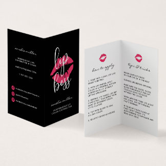 Custom Lip Product Distributor Tips & Tricks Business Card