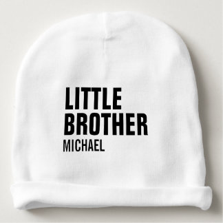 Custom Little Brother Baby Cotton Beanie Baby Beanie