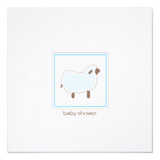 Custom_Little Lamb Baby Shower Invitation