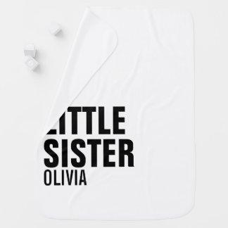 Custom Little Sister Baby Blanket