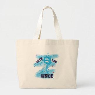 Custom Live Love Dance Blue Dancer Bags