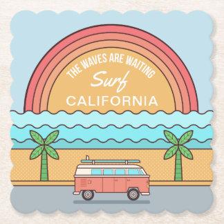 Custom Location Surfer paper coasters