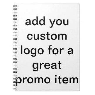 custom logo journal pages with logo design spiral note book