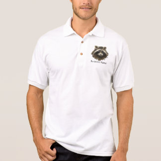 Custom Logo, Raccoon Animal Business Polo T-shirt