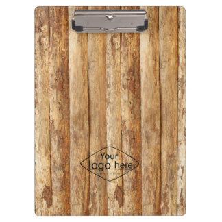 custom logo tree bark texture clipboard